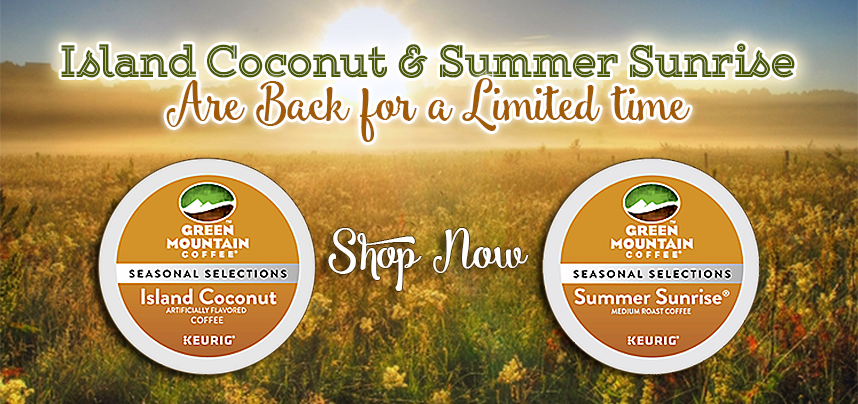 Island Coconut and Summer Sunrise Blend!
