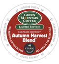Green Mountain Coffee – Fair Trade Autumn Harvest Blend® K-Cup Packs