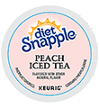 Snapple - Diet Peach Iced Tea K-Cup Packs