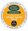 Green Mountain Coffee - Fair Trade Summer Sunrise Blend K-Cup Packs